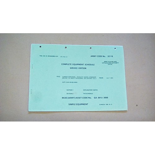 CES CATALOGUE SAXON ADCIS 32116